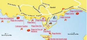 Udklip - Bandols strande