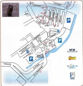 Udklip - Kort over seværdigheder i Ollioules