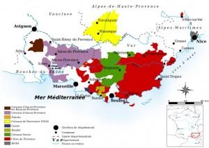 Udklip - vinkort Provence